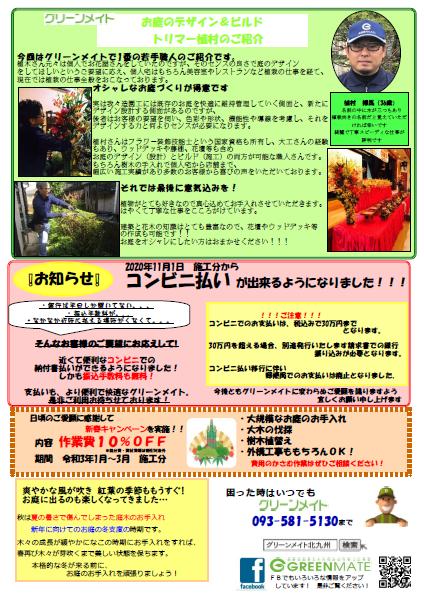 ニュースレター 2020秋号 発行